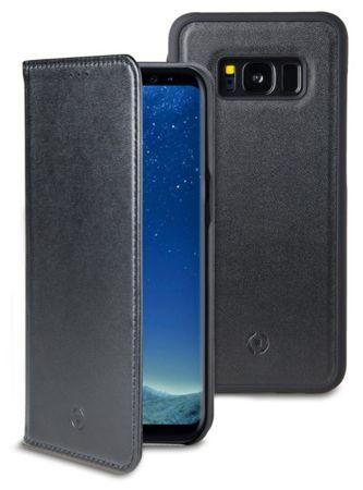 CELLY GHOSTWALLY mágneses tok Samsung Galaxy S8 készülékekre, kompatibilis a GHOST tartókkal, fekete