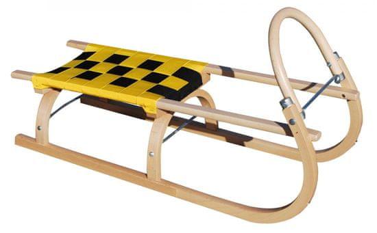 Sulov Dřevěné saně 67, 95 cm, žluto-černé