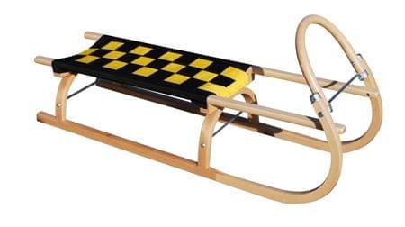 Sulov Dřevěné saně 67, 110 cm Černo-žluté