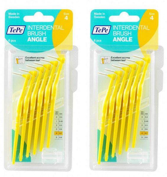 Tepe mezizubní kartáčky Angle 0,7 mm žluté 2 x 6 ks