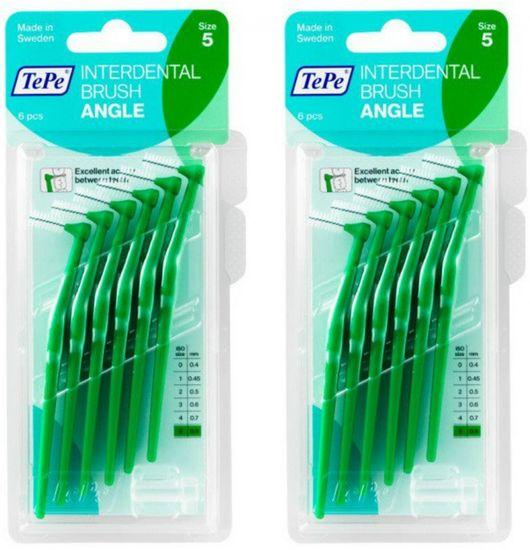 Tepe mezizubní kartáčky Angle 0,8 mm zelené 2 x 6 ks