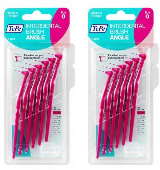 Tepe mezizubní kartáčky Angle 0,4 mm růžové 2 x 6 ks