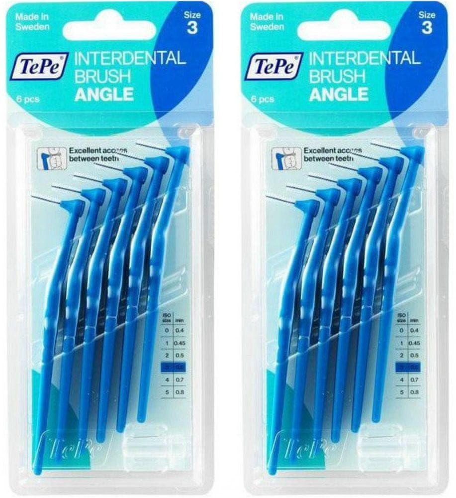 Tepe mezizubní kartáčky Angle 0,6 mm modré 2 x 6 ks