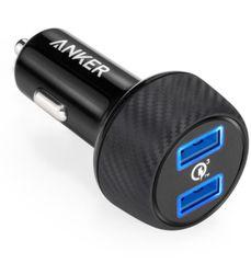 Anker auto punjač PowerDrive Speed2 QC 3.0, crni