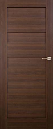 VASCO DOORS Akční interiérové dveře SANTIAGO plné, model 1, Kaštan, B