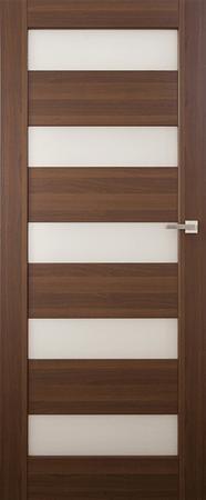 VASCO DOORS Akční interiérové dveře SANTIAGO kombinované, model 7, Kaštan, D