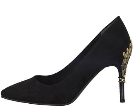 Tamaris női magassarkú cipő 38 fekete