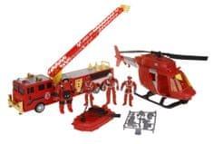 Alltoys Sada hasiči - akční set s vozidly a doplňky velká sada