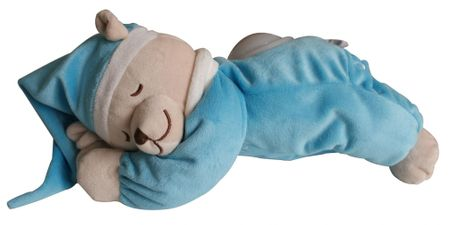 Babiage DooDoo medo, plavi, s lampicom