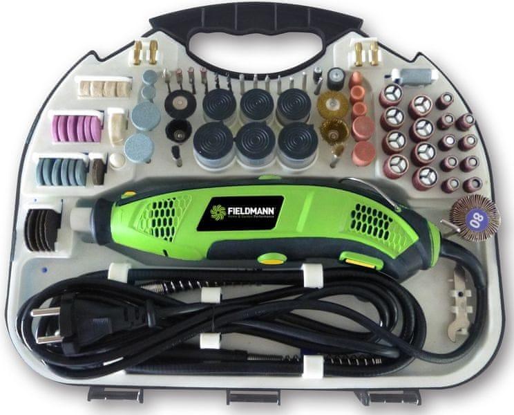 Fieldmann FDMB 200171-E Mini bruska s příslušenstvím 210ks