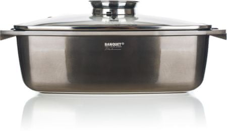 Banquet pekač Metallic Platinum, 40 x 22 x 16,5 cm