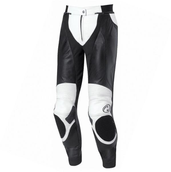 Held dámské kožené motocyklové kalhoty LANE vel.38 dekor černá/bílá