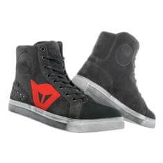 Dainese dámské kotníkové skútr boty  STREET BIKER LADY D-WP karbon/červené logo