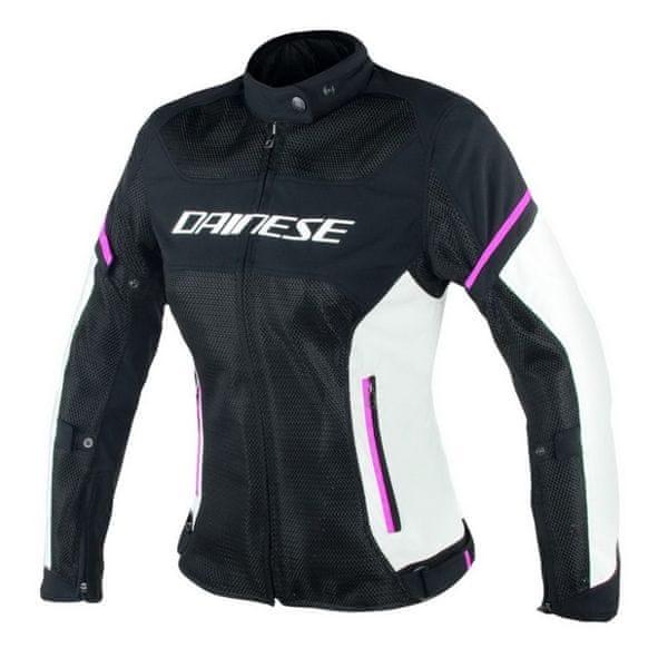 Dainese bunda dámská AIR-FRAME D1 LADY TEX vel.46 černá/šedá/růžová, textilní