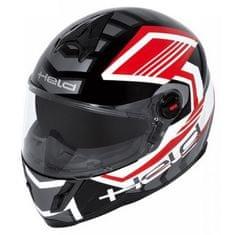 Held dětská motocyklová přilba  SCARD černá/červená