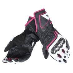 Dainese dámské sport moto rukavice  CARBON D1 LONG LADY černá/bílá/růžová, kůže (pár)