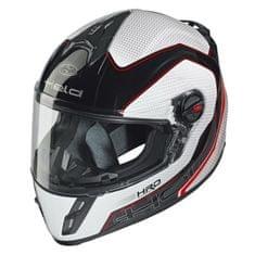 Held dětská motocyklová přilba  SCARD Design Carbon (černá/bílá/červená)