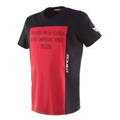 Dainese pánské triko s krátkým rukávem  RACER-PASSION černá/červená