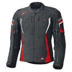 Held pánska moto bunda  LUCA Gore-Tex čierna/červená
