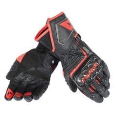 Dainese pánské sport moto rukavice  CARBON D1 LONG černá/černá/fluo červená, kůže (pár)