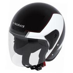Held motocyklová otevřená (jet) přilba  HEROS černá/bílá