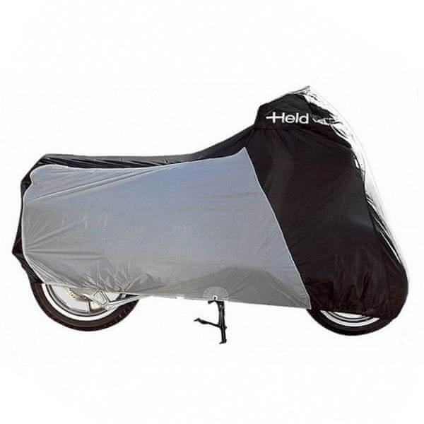 Held nepromokavá horkuvzdorná plachta na motorku vel.XL, černá/šedá