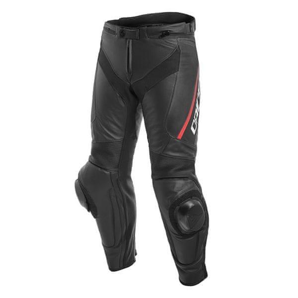 Dainese kalhoty DELTA 3 vel.52 černá/fluo-červená, kůže