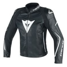 Dainese pánska kožená športová moto bunda ASSEN čierna/biela