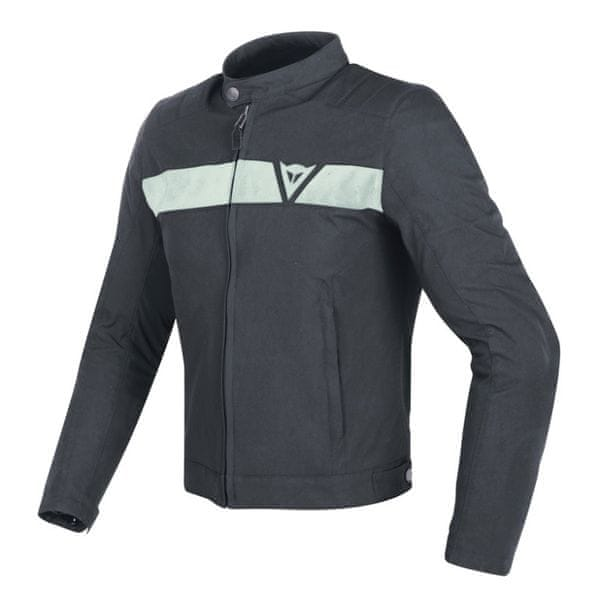 Dainese bunda STRIPES TEX vel.56 šedá/krémová, textil