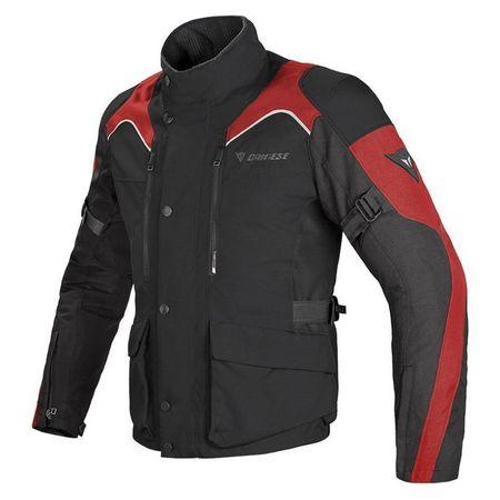 Dainese bunda TEMPEST D-DRY vel.56 černá/černá/červená, textilní