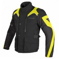 Dainese férfi enduro motoros kabát  D-DRY TEMPEST fekete/fekete/sárga fluo, textil