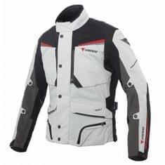 Dainese pánska motocyklová bunda  sandstorm GORE-TEX svetlosivá/čierna/červená, textilné