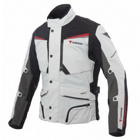 Dainese pánska motocyklová bunda  sandstorm GORE-TEX vel.50 svetlosivá/čierna/červená, textilné