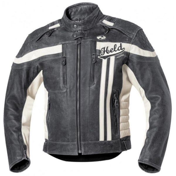 Held pánská bunda HARVEY 76 vel.58 černá/bílá kůže