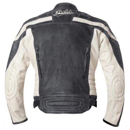Held pánská bunda HARVEY 76 vel.54 černá bílá kůže  2be3d164ed