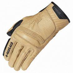 Held letní motocyklové rukavice  RODNEY natur, kůže (CoolMax)