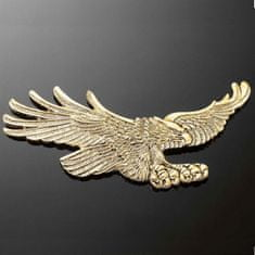 Highway-Hawk emblém samolepiace, EAGLE 110x55mm (orol), mosadz