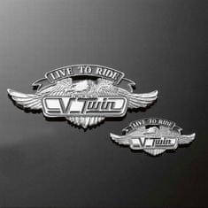 Highway-Hawk emblém samolepící V-TWIN LTR, 55mm