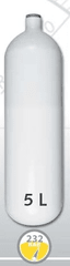 EUROCYLINDER Lahev ocelová 5 L průměr 140 mm 230 Bar