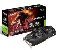 Asus grafična kartica Cerberus GeForce GTX 1070Ti AE, 8GB (90YV0BJ1-M0NA00)