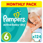 9 - Pampers plenice Active Baby 6 Extra Large, 124 kosov