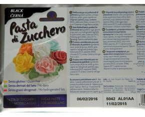 Master Martini Modelovací hmota PASTA DI ZUCHERO 1Kg černá