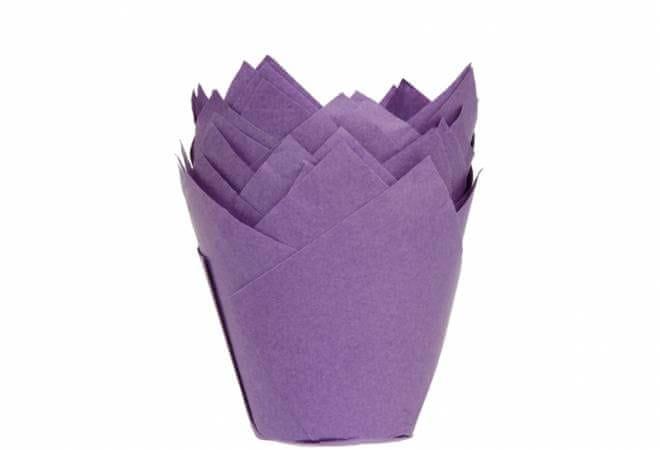 House of Marie Fialové papírové košíčky na muffiny tulipán 200ks