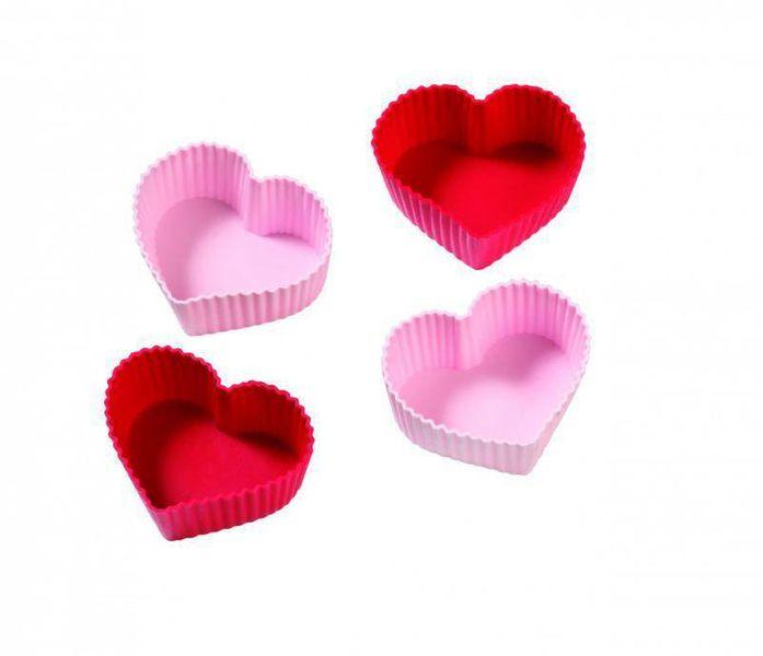 Birkmann Silikonové formy na muffiny ve tvaru srdce