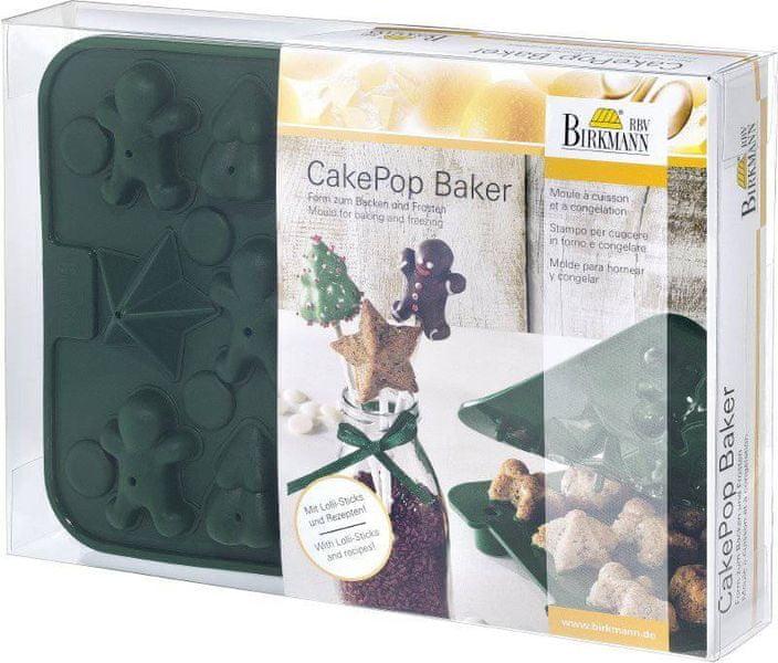 Birkmann Silikonová forma CAKE POPS – Vánoce