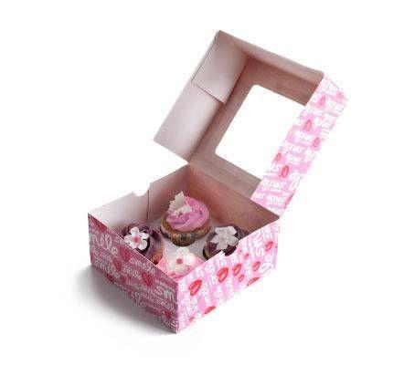 Ibili Krabička na cukroví - růžová 2ks 16x16cm