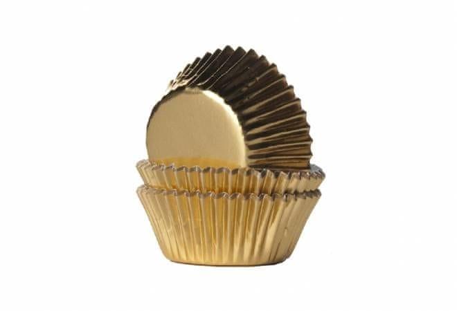 House of Marie Mini košíčky na muffiny LESKLÉ zlaté 36ks