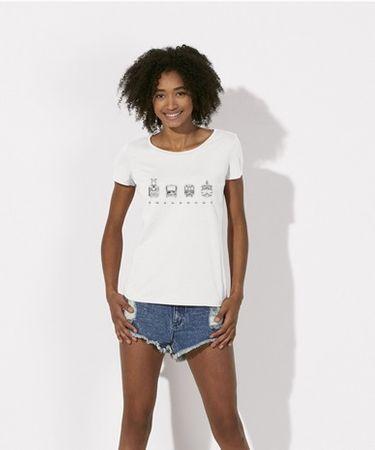 KlokArt dámské bílé tričko Stanley Stella loves S  fef3fa9c62