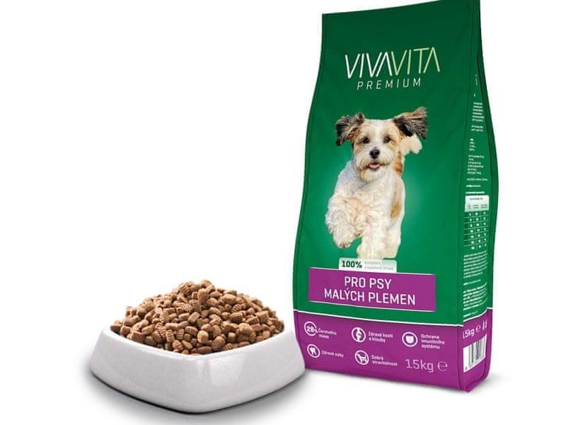 Vivavita Granule pro dospělé psy malých plemen 15kg