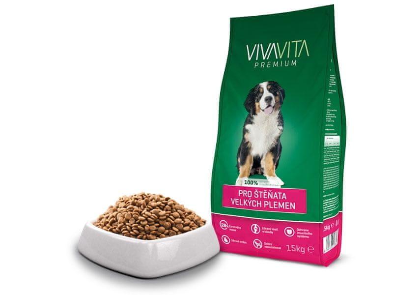 vivavita Granule pro štěňata velkých plemen 15kg